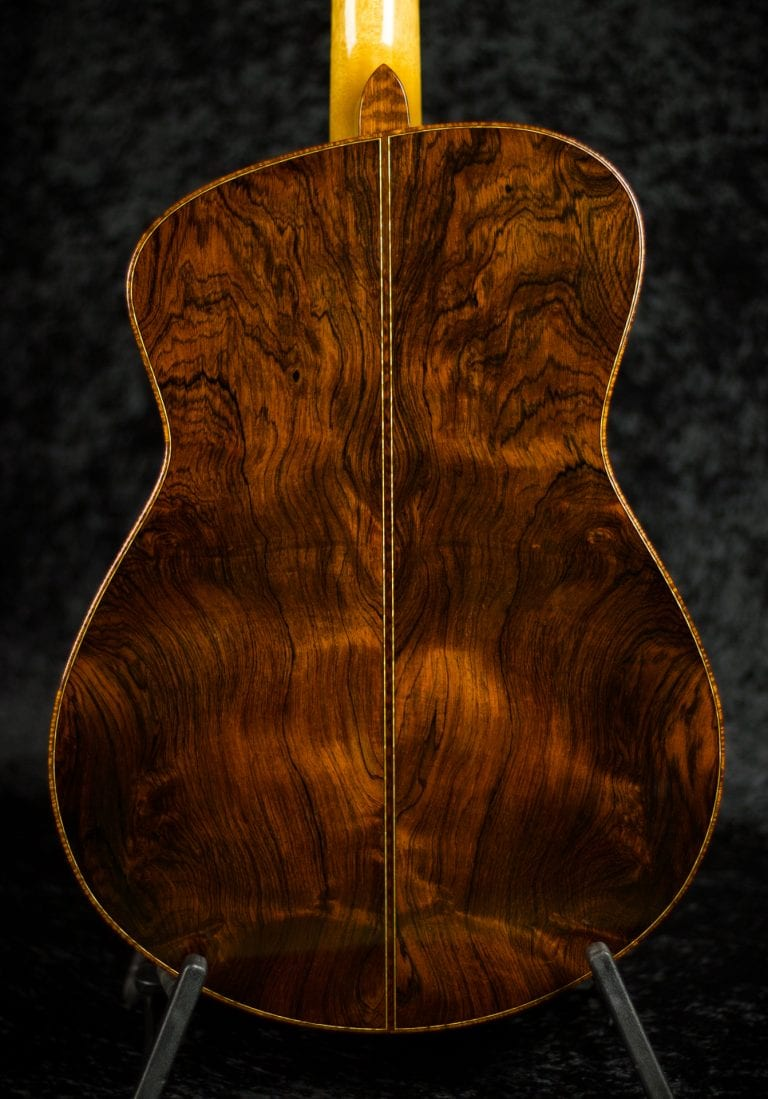Tom Bills guitar Brazilian Rosewood, Koa, & Snakewood binding